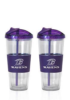 Boelter 22-oz. NFL Baltimore Ravens 2-Pack No Spill Straw Tumbler