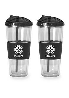 Boelter 22-oz. NFL Pittsburgh Steelers 2-pack No Spill Straw Tumbler