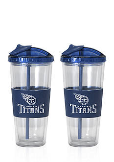 Boelter 22-oz. NFL Tennessee Titans 2-pack No Spill Straw Tumbler