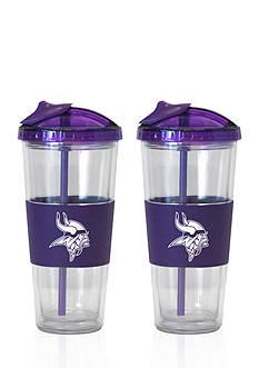 Boelter 22-oz. NFL Minnesota Vikings 2-pack No Spill Straw Tumbler