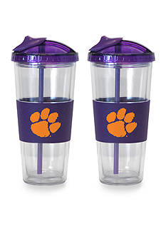 Boelter 22-oz. NCAA Clemson Tigers 2-pack No Spill Straw Tumbler