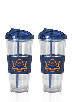 Boelter 22-oz. NCAA Auburn Tigers 2-pack No Spill Straw Tumbler