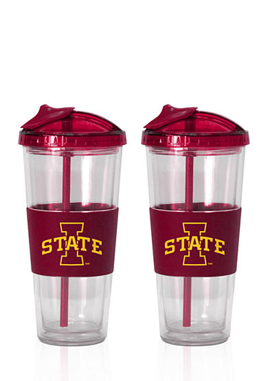 Boelter 22-oz. NCAA Iowa State Cyclones 2-pack No Spill Straw Tumbler