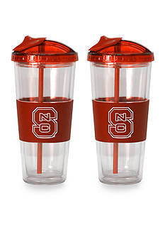 Boelter 22-oz.  NCAA NC State Wolfpack 2-pack No Spill Straw Tumbler<br>
