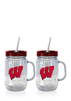 Boelter 20-oz. NCAA Wisconsin Badgers 2-pack Straw Tumbler with Handle