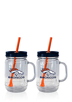 Boelter 20oz NFL Denver Broncos 2-pack Straw Tumbler with Handle