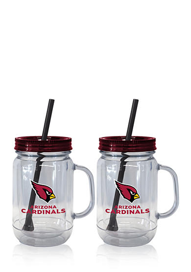 Boelter 20oz NFL Arizona Cardinals 2-pack Straw Tumbler with Handle