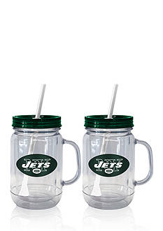 Boelter 20oz NFL New York Jets 2-pack Straw Tumbler with Handle