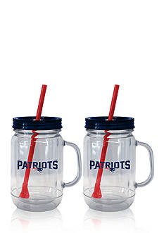 Boelter 20oz NFL New England Patriots 2-pack Straw Tumbler with Handle