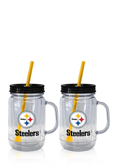 Boelter 20oz NFL Pittsburgh Steelers  2-pack Straw Tumbler with Handle