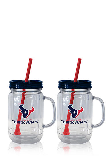 Boelter 20oz NFL Houston Texans 2-pack Straw Tumbler with Handle