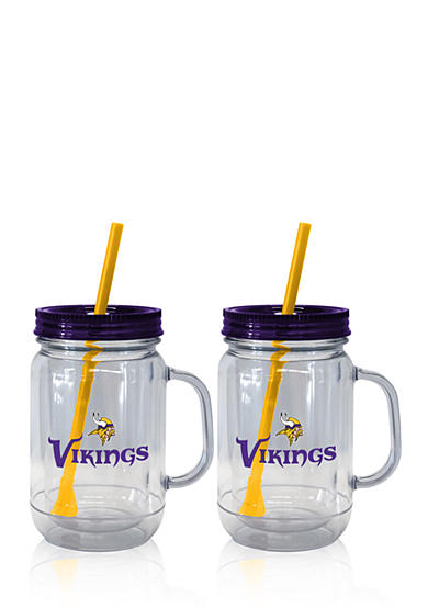 Boelter 20oz NFL Minnesota Vikings 2-pack Straw Tumbler with Handle