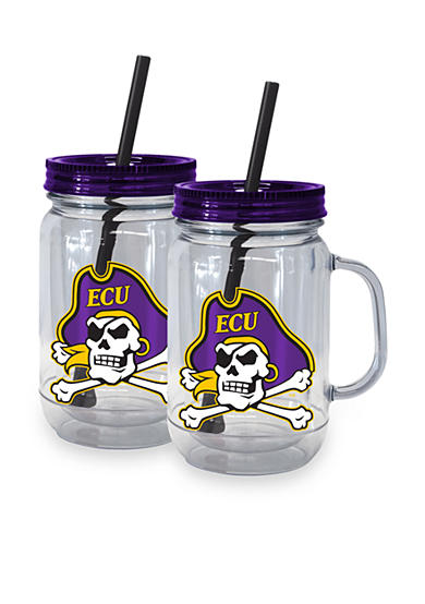 Boelter 20-oz. NCAA East Carolina Pirates 2-pack Straw Tumbler with Handle