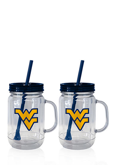 Boelter 20-oz. NCAA West Virginia Mountaineers 2-pack Straw Tumbler with Handle