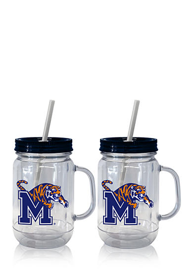 Boelter 20-oz. NCAA Memphis Tigers 2-pack Straw Tumbler with Handle