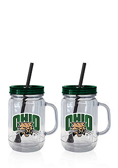Boelter 20-oz. NCAA Ohio University Bobcats 2-pack Straw Tumbler with Handle