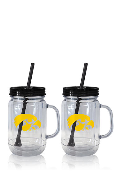 Boelter 20-oz. NCAA Iowa Hawkeyes 2-pack Straw Tumbler with Handle