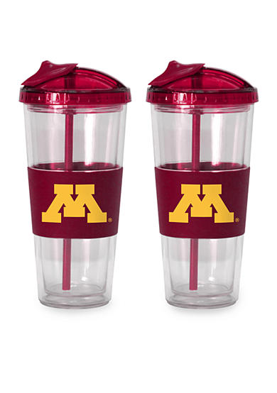 Boelter 22-oz. NCAA Minnesota Gophers 2-pack No Spill Straw Tumbler