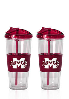Boelter 22-oz. NCAA Mississippi State Bulldogs 2-pack No Spill Straw Tumbler
