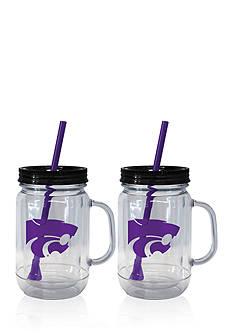 Boelter 20-oz. NCAA Kansas State Wildcats 2-pack Straw Tumbler with Handle