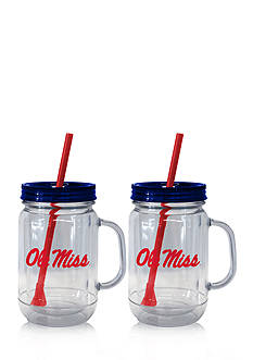 Boelter 20-oz. NCAA Ole Miss Rebels 2-pack Straw Tumbler with Handle