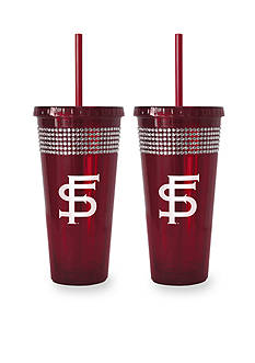 Boelter 22-oz. NCAA Florida State Seminoles 2-pack Bling Tumbler with Straw