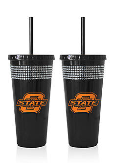Boelter 22-oz. NCAA Oklahoma State Cowboys 2-Pack Bling Tumbler with Straw
