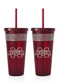 Boelter 22-oz. NCAA Mississippi State Bulldogs 2-pack Bling Tumbler with Straw