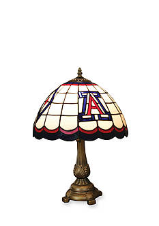 Memory Company NCAA University of Arizona Wildcats Tiffany Stained Glass Table Lamp