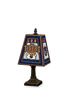 Memory Company NCAA Auburn University Aubie Tiger Tiffany Stained Glass Table Lamp