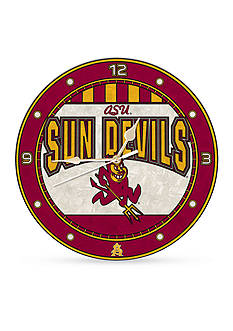 Memory Company NCAA Arizona State University Sun Devils 12-in. Art-Glass Clock
