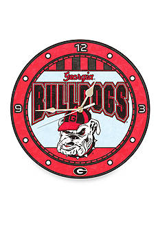 Memory Company NCAA University of Georgia Bulldogs 12-in. Art-Glass Clock