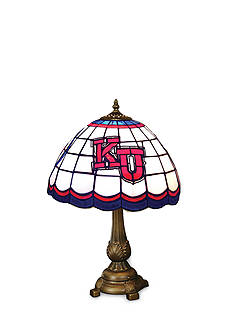 Memory Company NCAA University of Kansas Jayhawks Tiffany Stained Glass Table Lamp