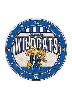 Memory Company NCAA University of Kentucky Wildcats 12-in. Art-Glass Clock