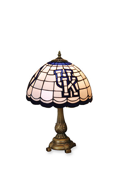 Memory Company NCAA University of Kentucky Wildcats Tiffany Stained Glass Table Lamp