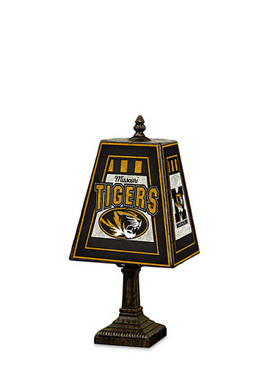 Memory Company NCAA University Of Missouri Tigers 14-in. Art-Glass Table Lamp