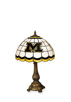 Memory Company NCAA University of Missouri Tigers Tiffany Stained Glass Table Lamp