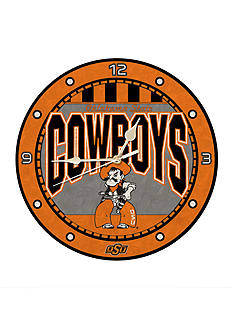 Memory Company NCAA Oklahoma State University Cowboys 12-in. Art-Glass Clock
