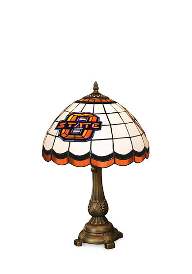 Memory Company NCAA Oklahoma State University Cowboys Tiffany Stained Glass Table Lamp