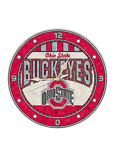 Memory Company NCAA Ohio State University Buckeyes 12-in. Art-Glass Clock