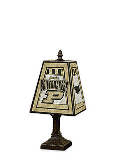 Memory Company NCAA Purdue University Boilermaker Special 14-in. Art-Glass Table Lamp