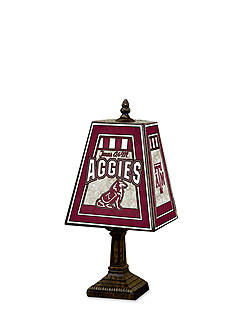Memory Company NCAA Texas A&M University Aggies 14-in. Art-Glass Table Lamp