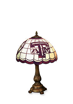 Memory Company NCAA Texas A&M University Aggies Tiffany Stained Glass Table Lamp