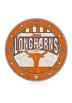 Memory Company NCAA University of Texas Longhorns 12-in. Art-Glass Clock