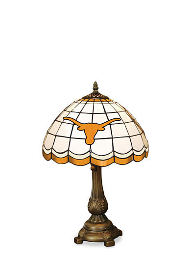 Memory Company NCAA University of Texas Longhorns Tiffany Stained Glass Table Lamp