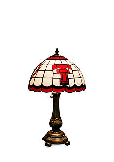 Memory Company NCAA Texas Tech University Red Raiders Tiffany Stained Glass Table Lamp