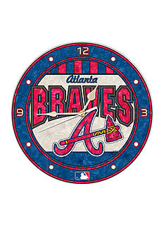 Memory Company MLB Atlanta Braves 12-in. Art-Glass Clock