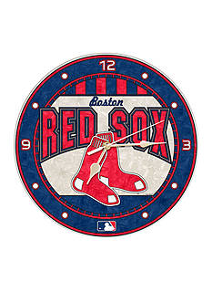 Memory Company MLB Boston Red Sox 12-in.Art-Glass Clock