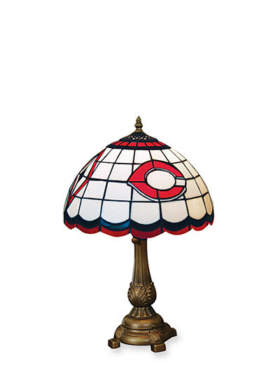 Memory Company MLB Cincinnati Reds Tiffany Stained Glass Table Lamp