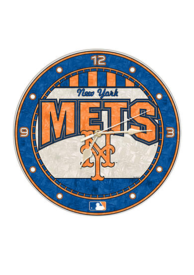 Memory Company MLB New York Mets 12-in. Art-Glass Clock